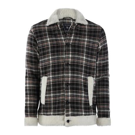 Parker Plaid Coat // Black + White (S)