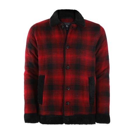 James Plaid Coat // Red + Black (S)