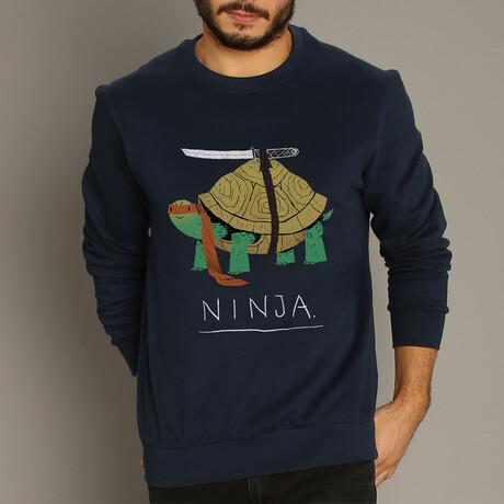 Ninja Turtle Sweatshirt // Navy (S)