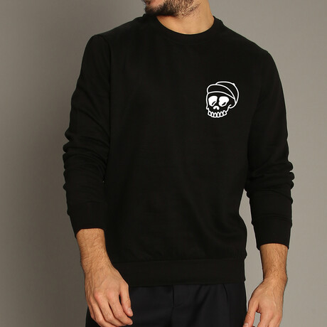 Skull Cap Sweatshirt // Black (S)
