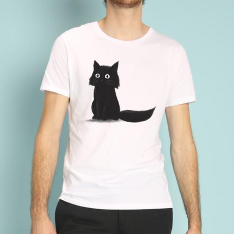 Sitting Cat T-Shirt // White (S)