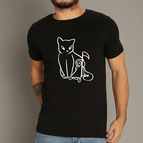 Cat And Reaper T-Shirt // Black (S)