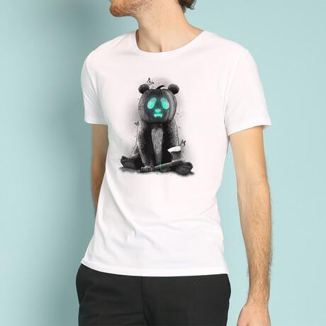 Pandaloween T-Shirt // White (S)