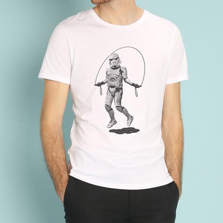 Stormtrooper Skipping T-Shirt // White (S)