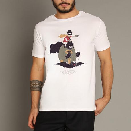 Batman And Robin T-Shirt // White (S)
