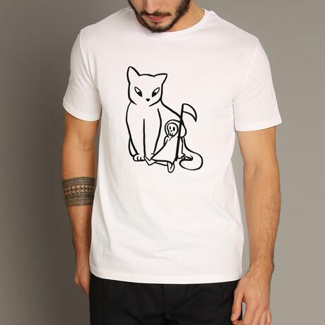 Cat And Reaper T-Shirt // White (S)