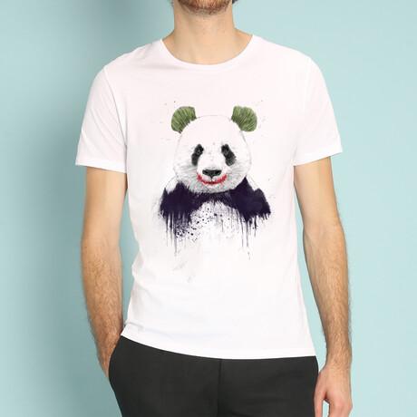 Joker Panda T-Shirt // White (S)