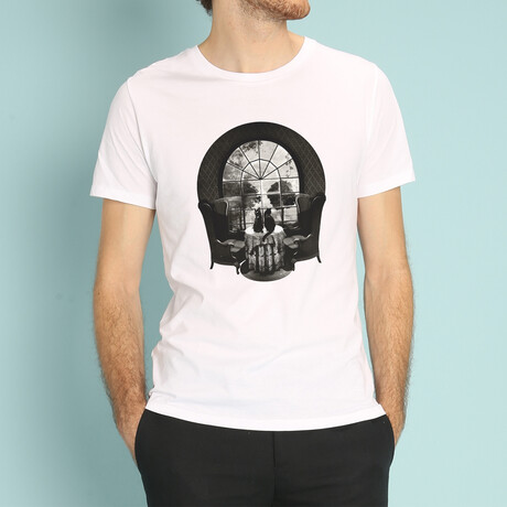 Manor Skull T-Shirt // White (S)