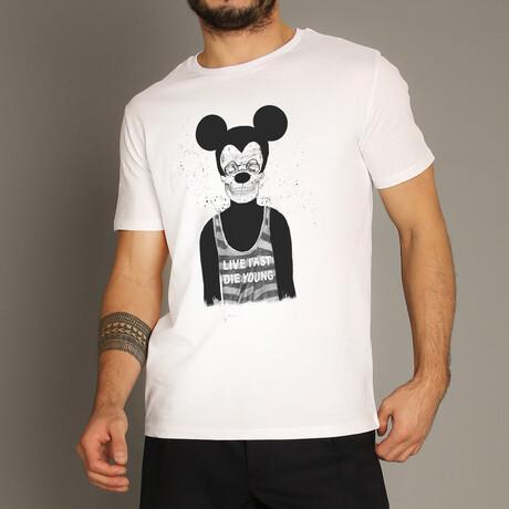 Dead Mouse T-Shirt // White (S)