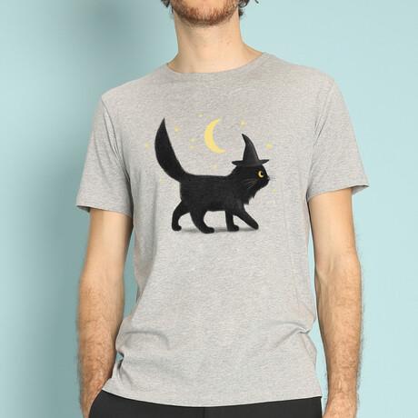 Halloween Cat T-Shirt // Gray (S)