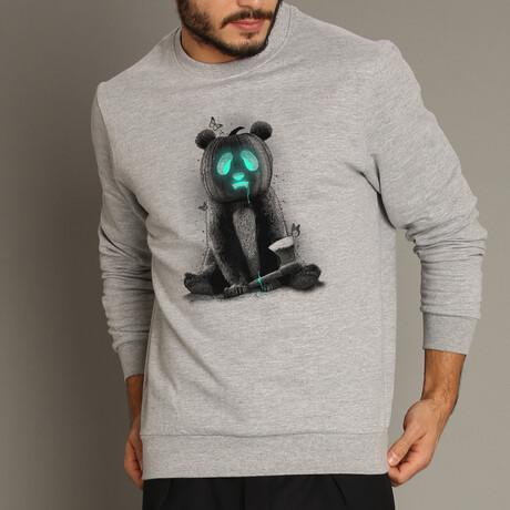 Pandaloween Sweatshirt // Gray (S)