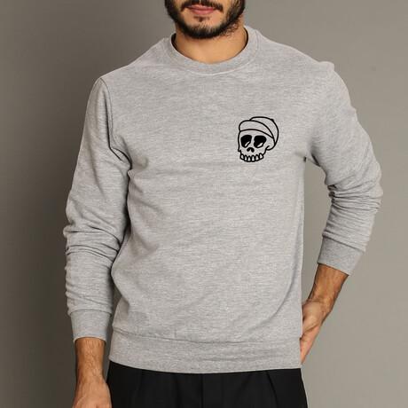Skull Cap Sweatshirt // Gray (S)