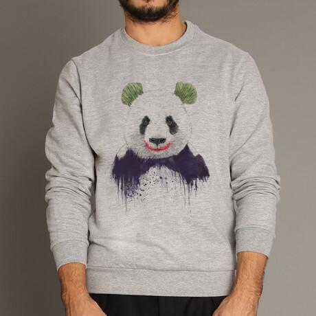 Joker Panda Sweatshirt // Gray (S)
