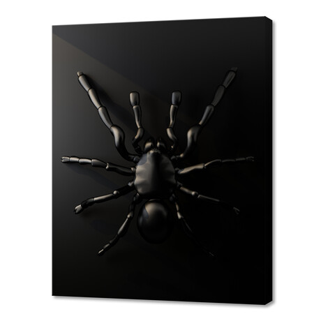"Black Spider (8""W x 10""H x 0.75""D)"