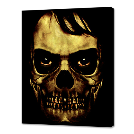 """Angry Skull Monster Poster (8""""W x 10""""H x 0.75""""D)"""