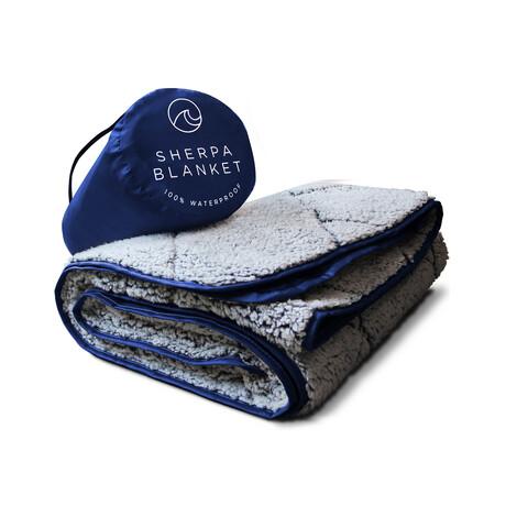 Waterproof Sherpa Blanket // Blue