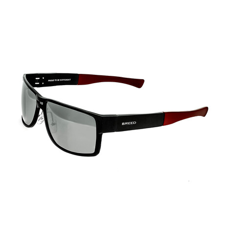 Stratus Polarized Sunglasses // Black Frame + Silver Lens