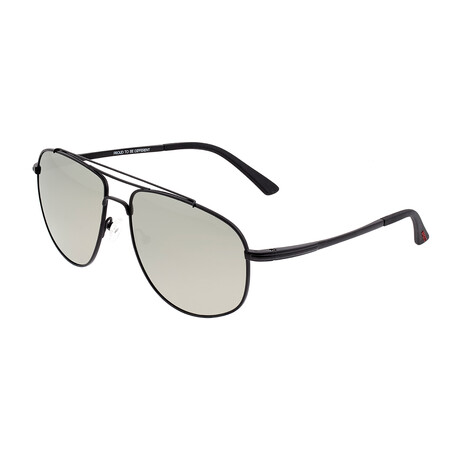 Asteroid // Titanium Polarized Sunglasses // Black Frame + Silver Lens