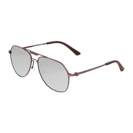 Mount // Titanium Polarized Sunglasses // Brown Frame + Silver Lens