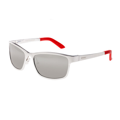 Hydra Polarized Sunglasses // Silver Frame + Silver Lens