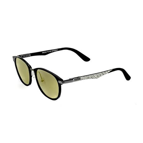 Cetus // Titanium Polarized Sunglasses // Black Frame + Gold Lens