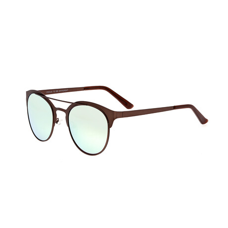Phoenix // Titanium Polarized Sunglasses // Brown Frame + Celeste Lens