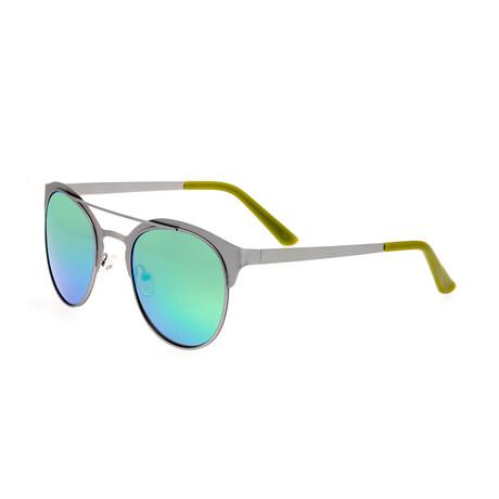 Phoenix // Titanium Polarized Sunglasses // Silver Frame + Blue Green Lens