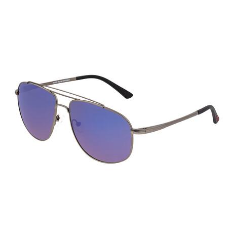 Asteroid // Titanium Polarized Sunglasses // Gunmetal Frame + Blue Lens