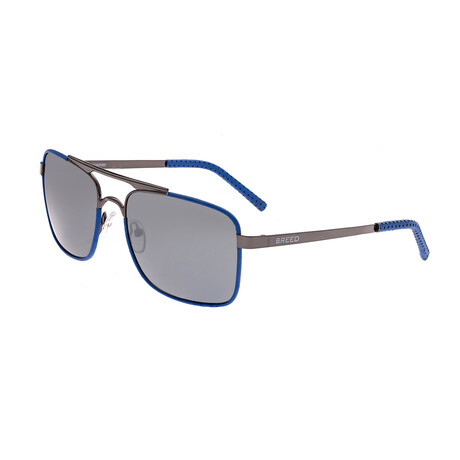 Draco // Titanium Polarized Sunglasses // Gunmetal Frame + Black Lens