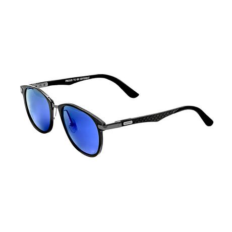 Cetus // Titanium Polarized Sunglasses // Gunmetal Frame + Blue Lens