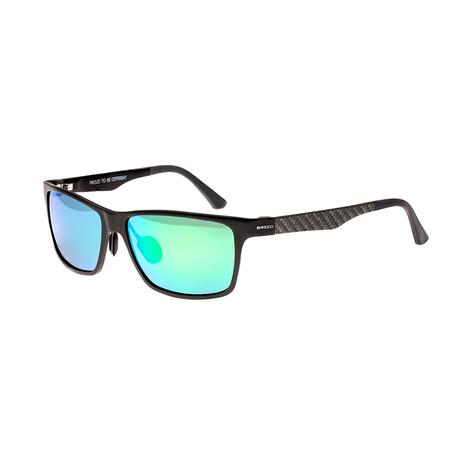 Vulpecula // Titanium Polarized Sunglasses // Gunmetal Frame + Blue Green Lens