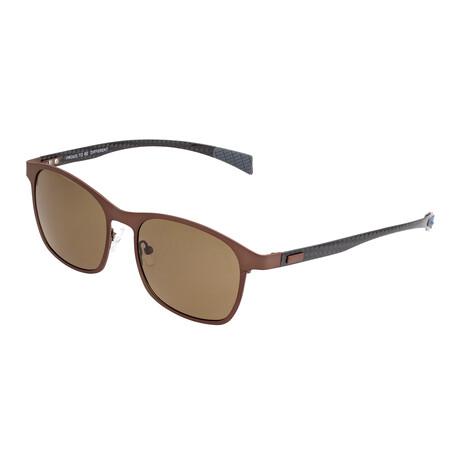Halley // Titanium Polarized Sunglasses // Brown Frame + Brown Lens
