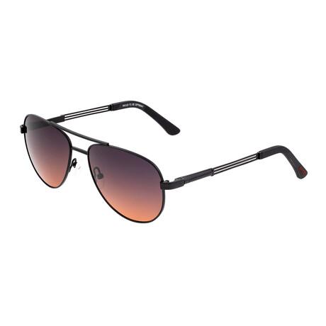 Leo // Titanium Polarized Sunglasses // Black Frame + Brown Lens