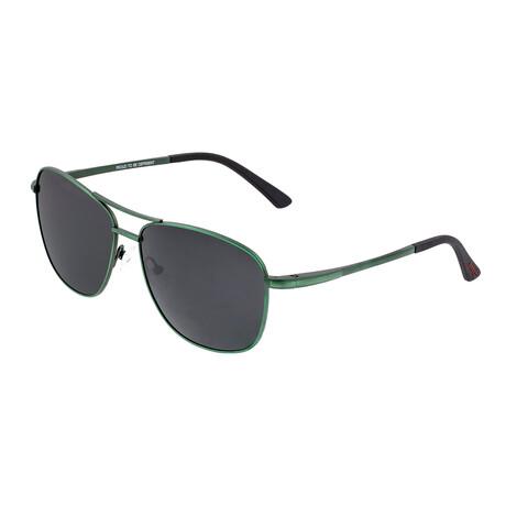 Hera // Titanium Polarized Sunglasses // Green Frame + Black Lens