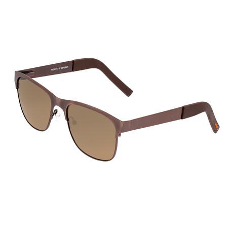 Hypnos // Titanium Polarized Sunglasses // Brown Frame + Brown Lens (Bronze Frame + Silver Lens)