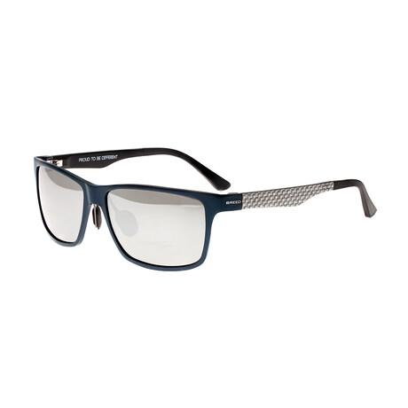 Vulpecula // Titanium Polarized Sunglasses // Blue Frame + Black Lens