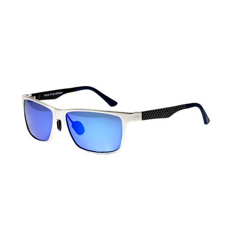 Vulpecula // Titanium Polarized Sunglasses // Silver Frame + Purple Blue Lens