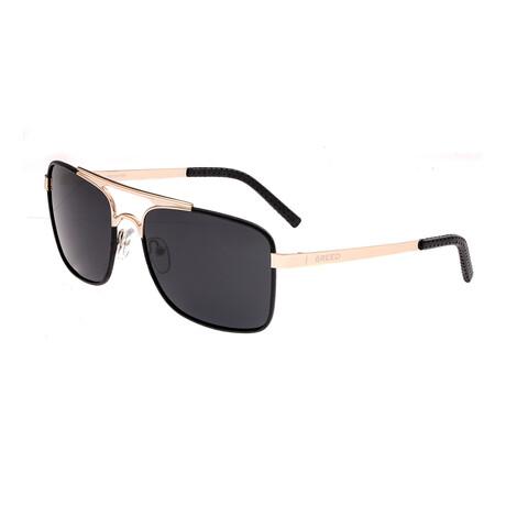 Draco // Titanium Polarized Sunglasses // Gold Frame + Black Lens