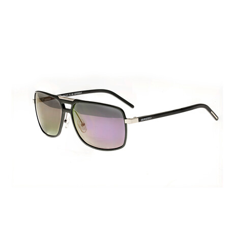 Retrograde Polarized Sunglasses // Gunmetal Frame + Purple Lens