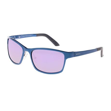 Hydra Polarized Sunglasses // Blue Frame + Purple Lens