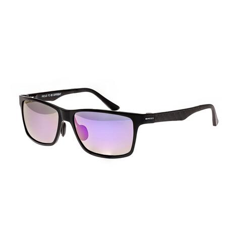 Vulpecula // Titanium Polarized Sunglasses // Black Frame + Purple Lens