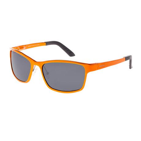Hydra Polarized Sunglasses // Orange Frame + Black Lens