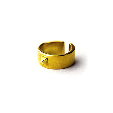 Pyramid Detail Single Ear Cuff // Gold Plated