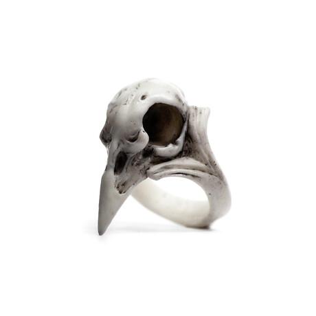 Raven Skull Ring // White (5)