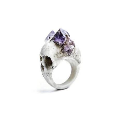 Bifacial Skull Amethyst Ring (5)