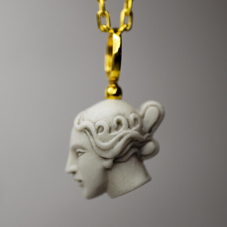 """Thetis Pendant Necklace // 19.6"""" // Gold Plated"""