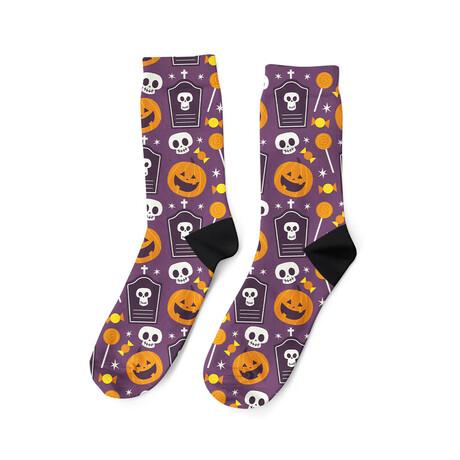 Skulls + Pumpkins Socks