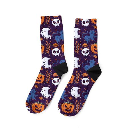 Ghosts + Cats Socks