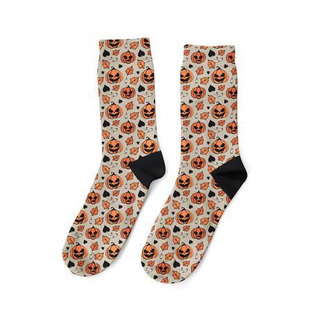Jack-O-Lantern Socks