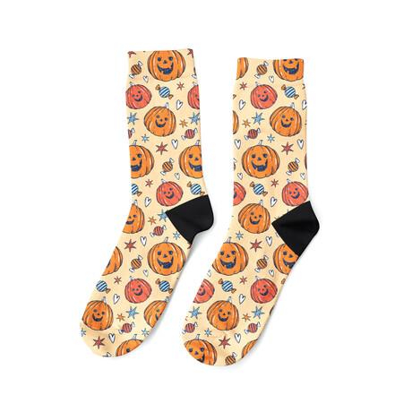 Happy Jack-O-Lantern Socks